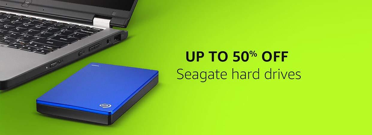 upto 50% off seagate harddrives
