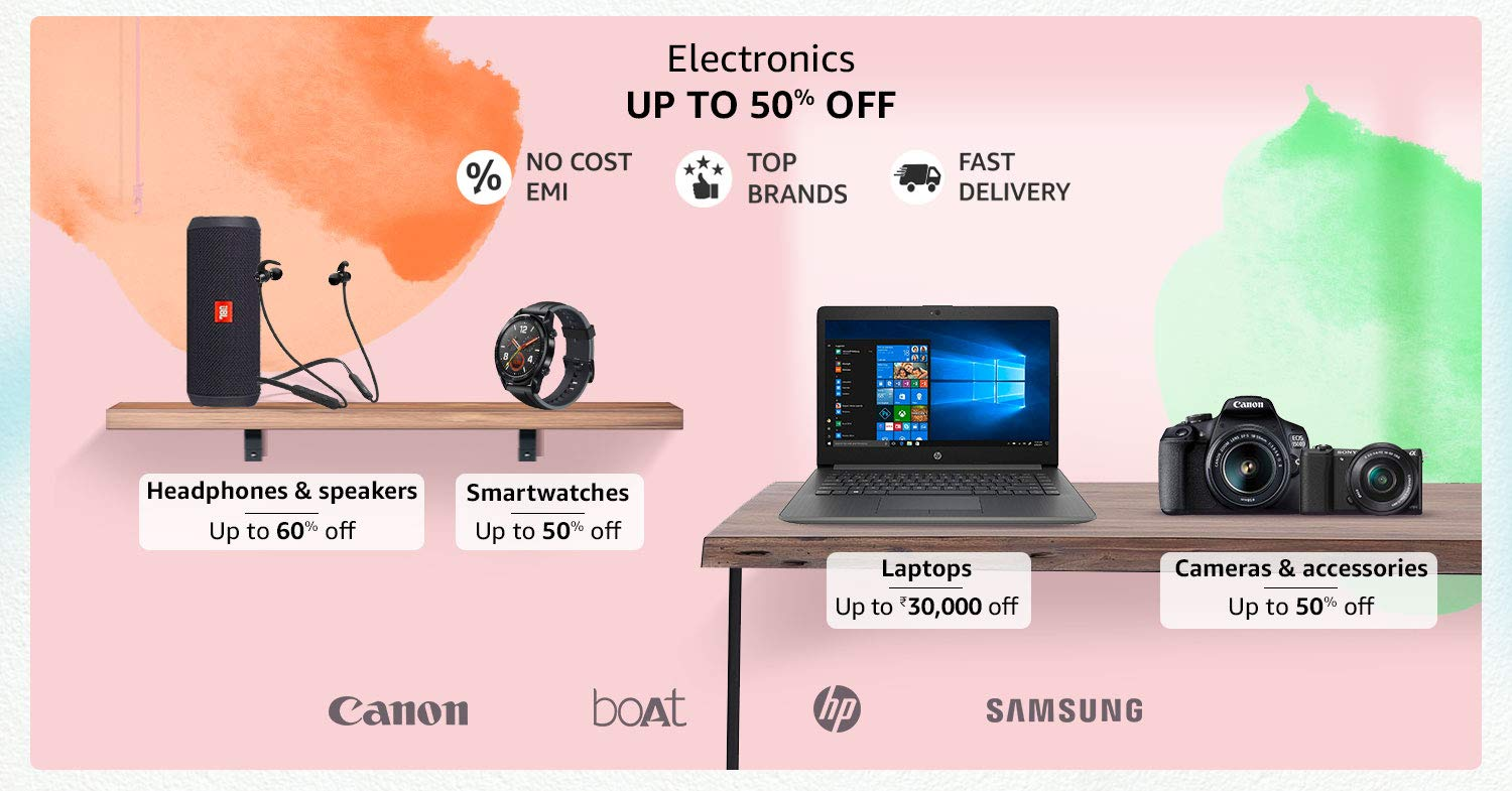 Electronics| Up to 50% off