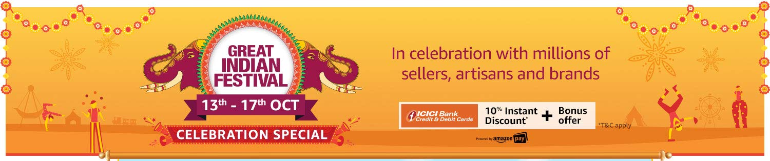 Amazon.in Great Indian Festival (Diwali) Sale 2019 (13th - 17th October)