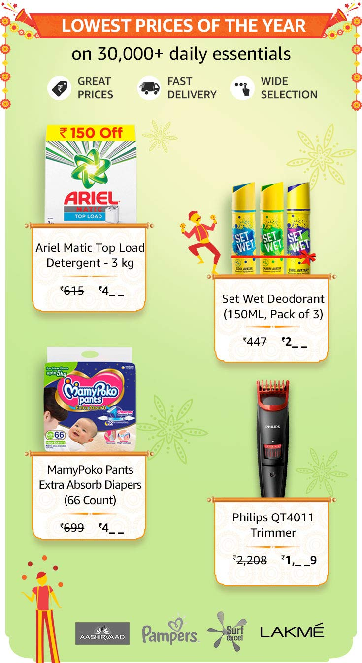 Daily Essentials offers on amazon great indian sale