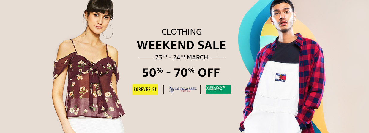 3f920a7cf Amazon Fashion Clothing Sale : 40-70% OFF On Clothing   For Men, Women &  Kids at Lowest Price at SasteSaude