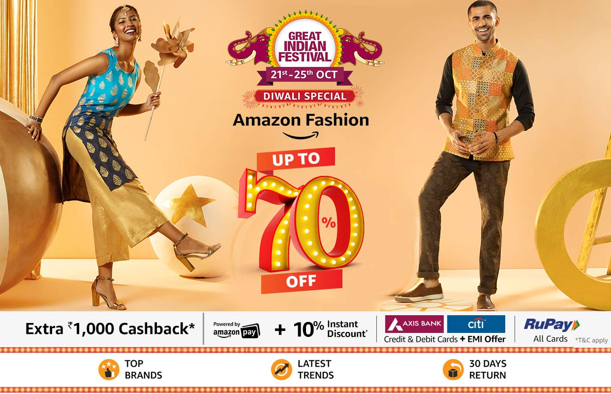 Amazon fashion upto 70% off