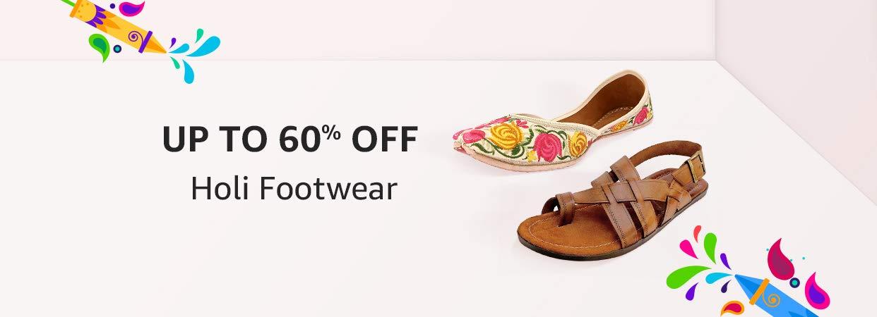 Upto 60% Off on Holi Footwear, Starts Rs.199