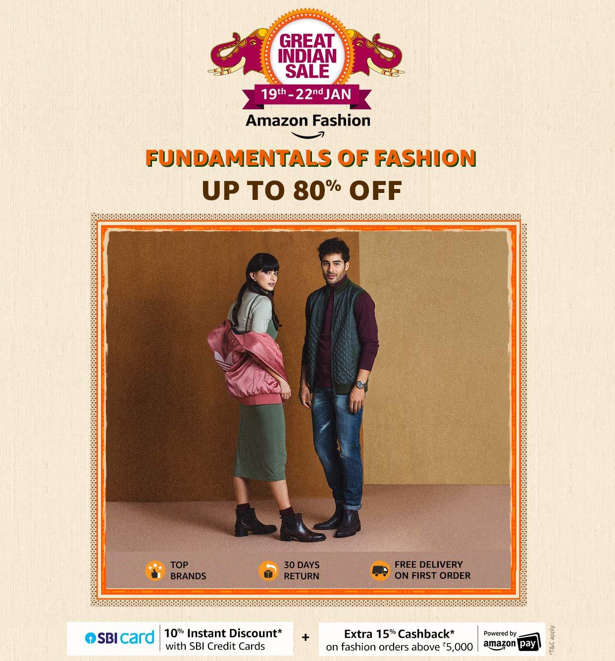 Amazon fashion upto 80% off
