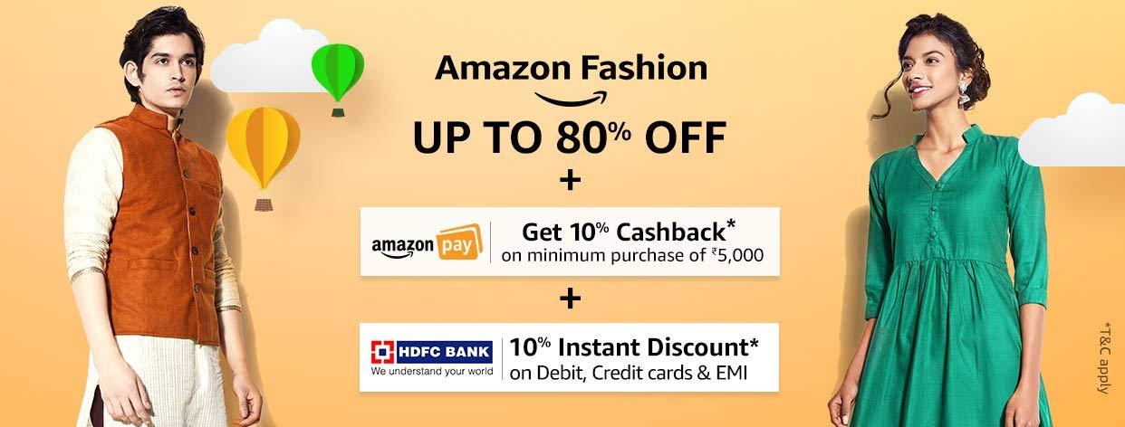 Amazon Fashion: Upto 80% Off