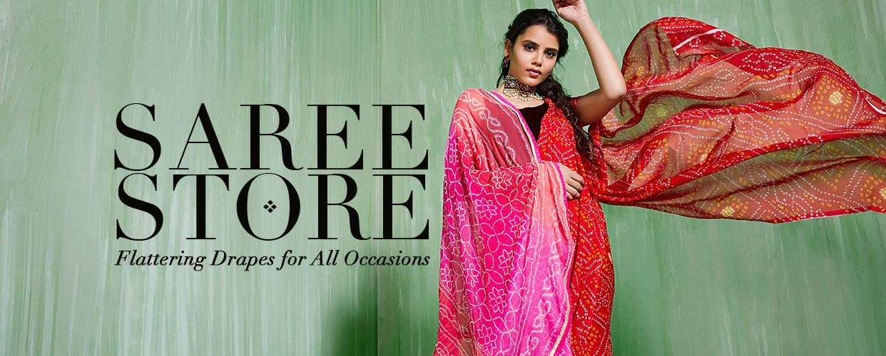 Ethnic saree flattering drapes for all occasions