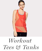 Workout tees and tanks