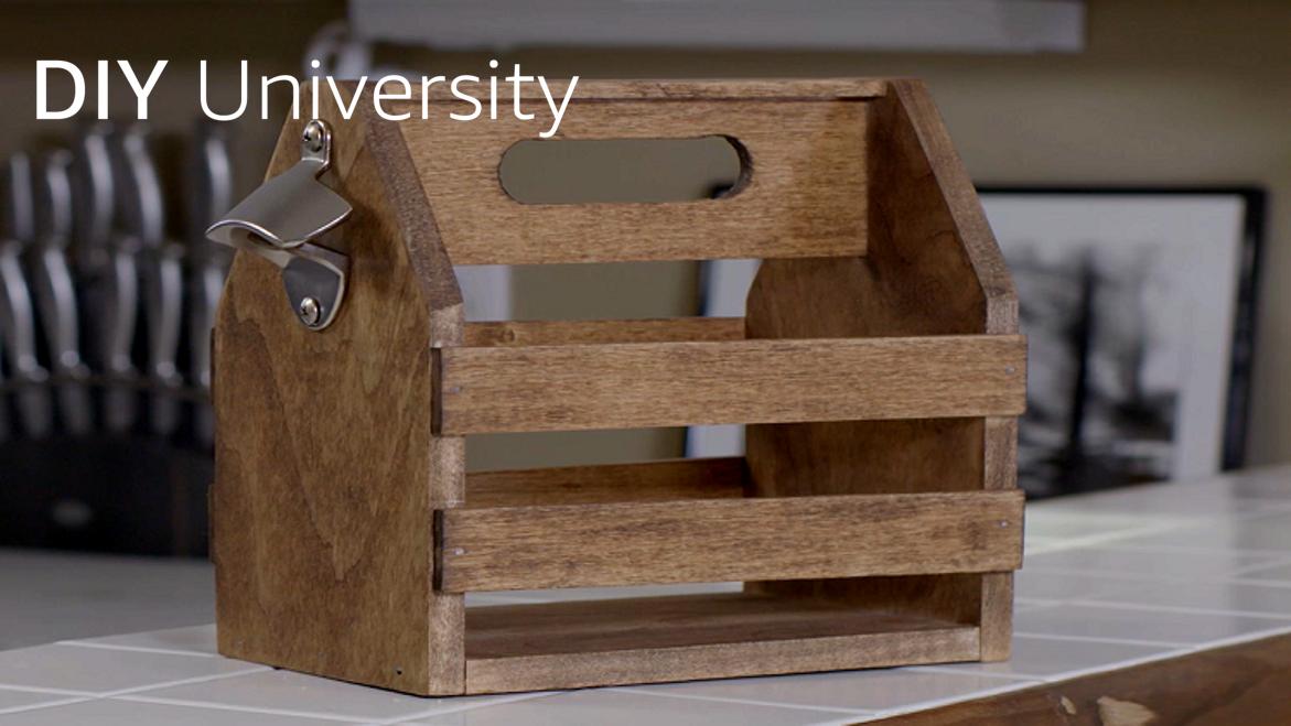 Make your own wooden drinks holder