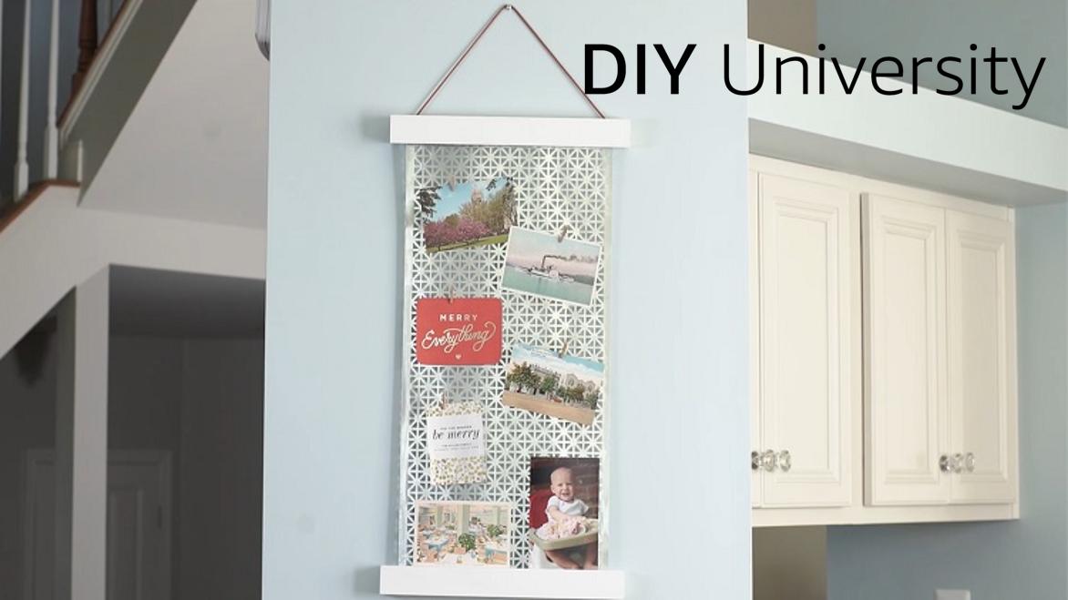 Making a hanging photo display