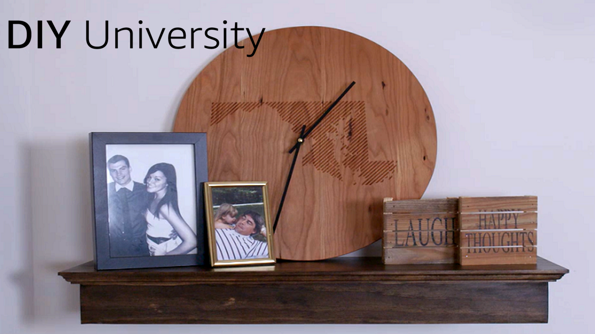 Make your own wooden floating shelf
