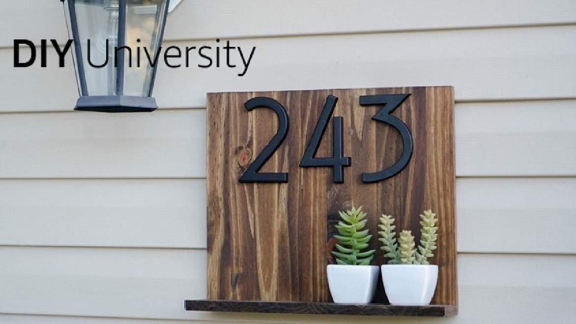 Make a quirky house number plaque