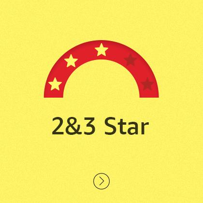 2 & 3 star