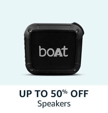 Upto 50% off on Speakers