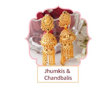 Objective Indian Ethnic Gold Tone Pearl Beads Chand Bali Earring Wedding Jewelry Beautiful And Charming Costume Jewellery