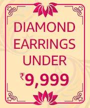 Diamond Earrings Under 9,999/-