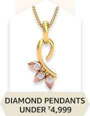 Diamond Pendants Under 4,999/-