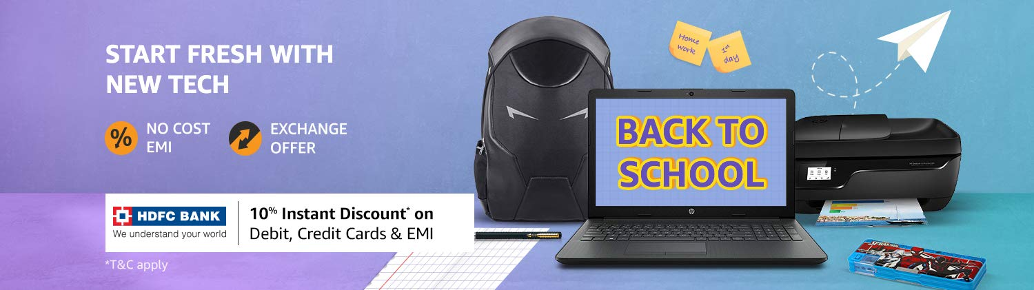 Amazon HDFC Bank Back to School