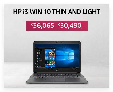 HP i3 Win 10 Thin & Light
