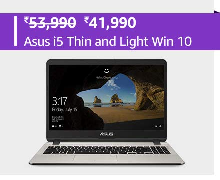 Asus i5 Thin and Light Win 10