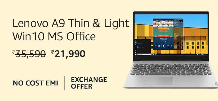 Lenovo A9 Thin & Light Win10 MS Office