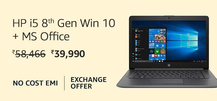 HP i5 8th Gen Win 10 + MS Office