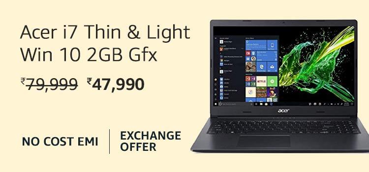 Acer i7 Thin & Light Win 10 2GB Gfx