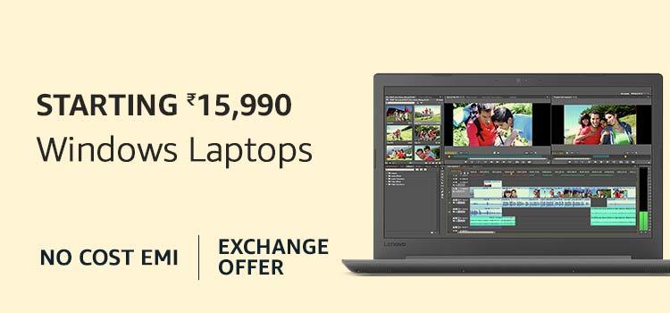 Windows Laptops starting Rs 15990