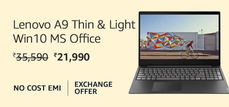 Lenovo A9 Thin & Light Win 10 + MS Office