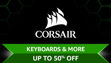 Corsair Keyboards & more Upto 50% off
