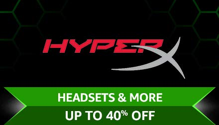 HyperX Headsets & more Upto 40% off
