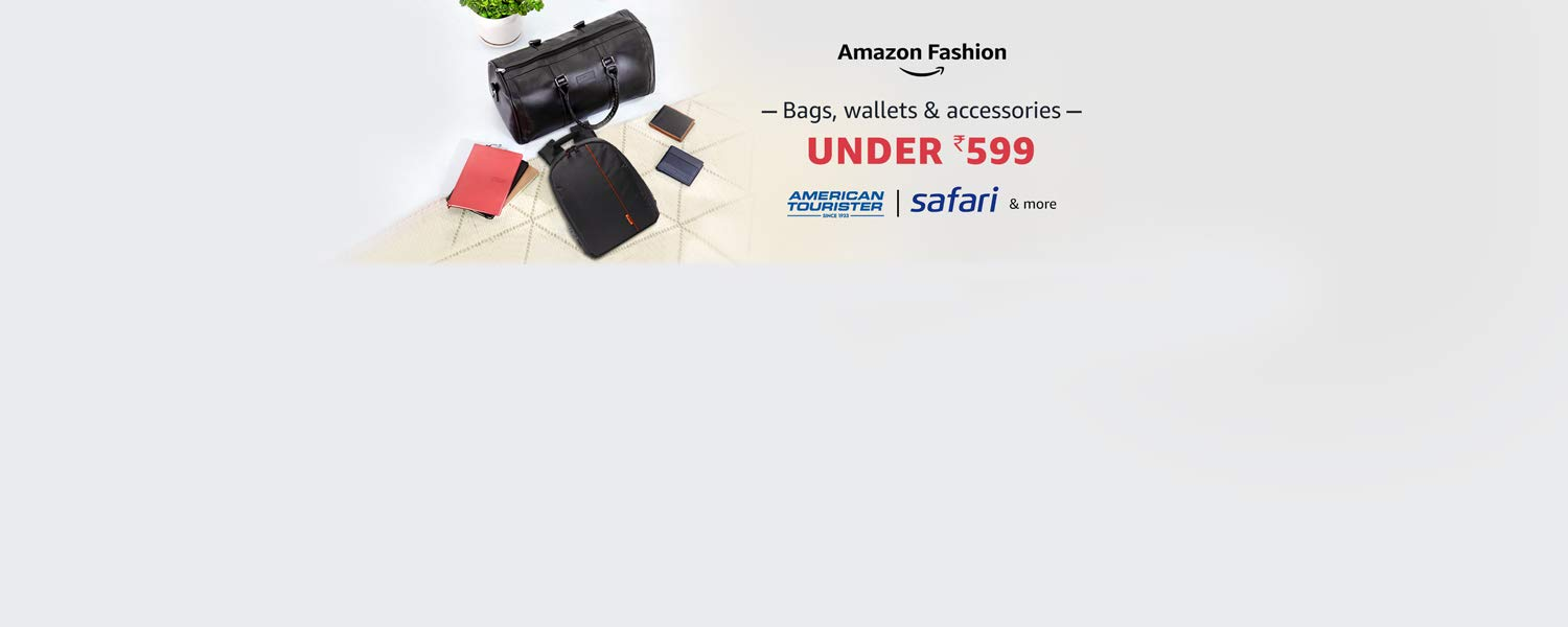 Amazon Offers Today-Coupons-Promo Codes - Fashion Accessories and more under ₹599