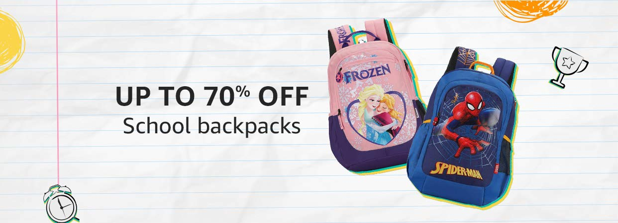 School bags up to 70% off