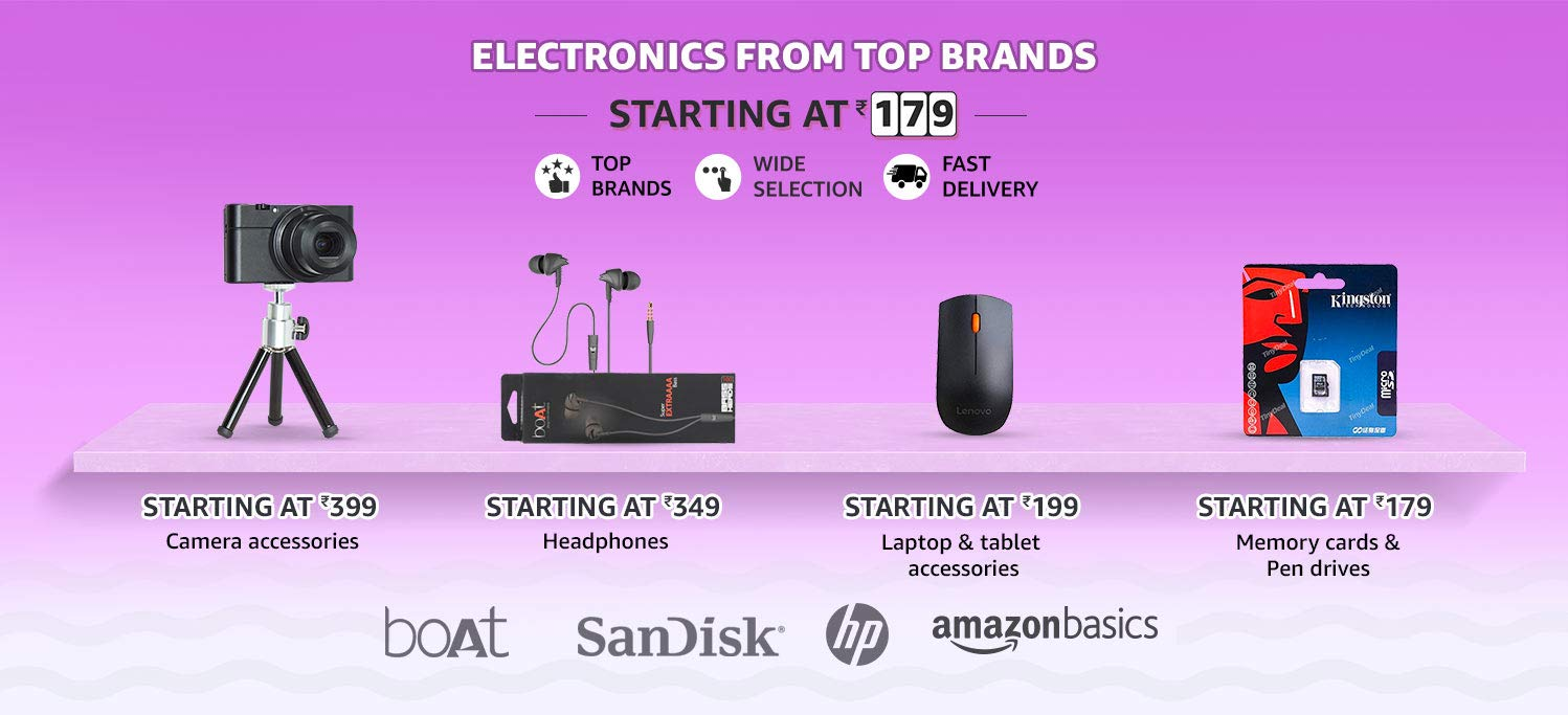 Electronics from top brands