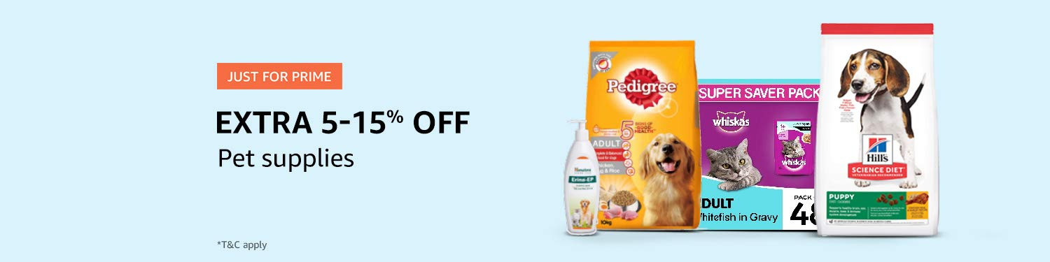 Prime offers on pet products