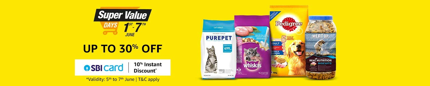 Super Value Day offers on pet supplies