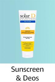 Sunscreen & Deos