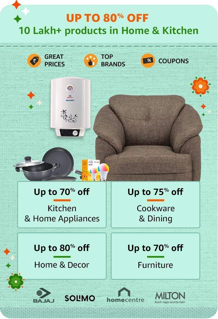 80% off Home & Kitchen Amazon offer