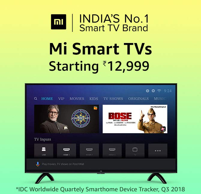 Mi Smart TVs