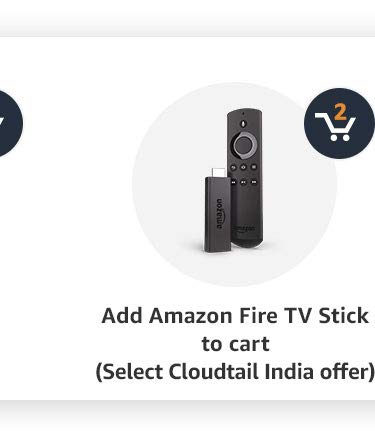 Add Amazon fire TV stick to cart