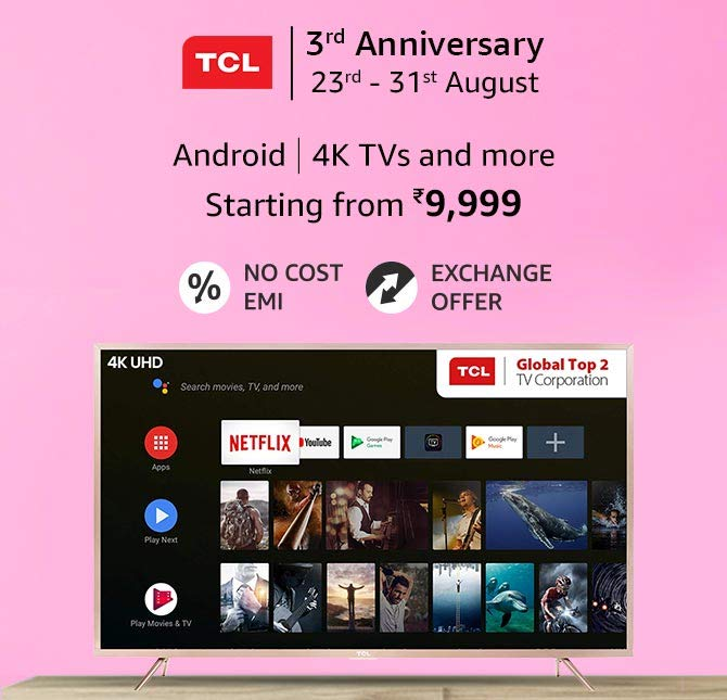 TCL Anniversary sale