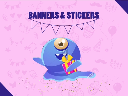 Banners & stickers