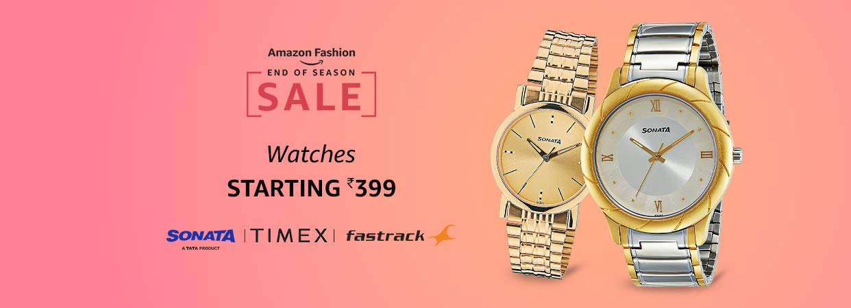 Amazon - Amazon: Buy Watches starting from Rs.399