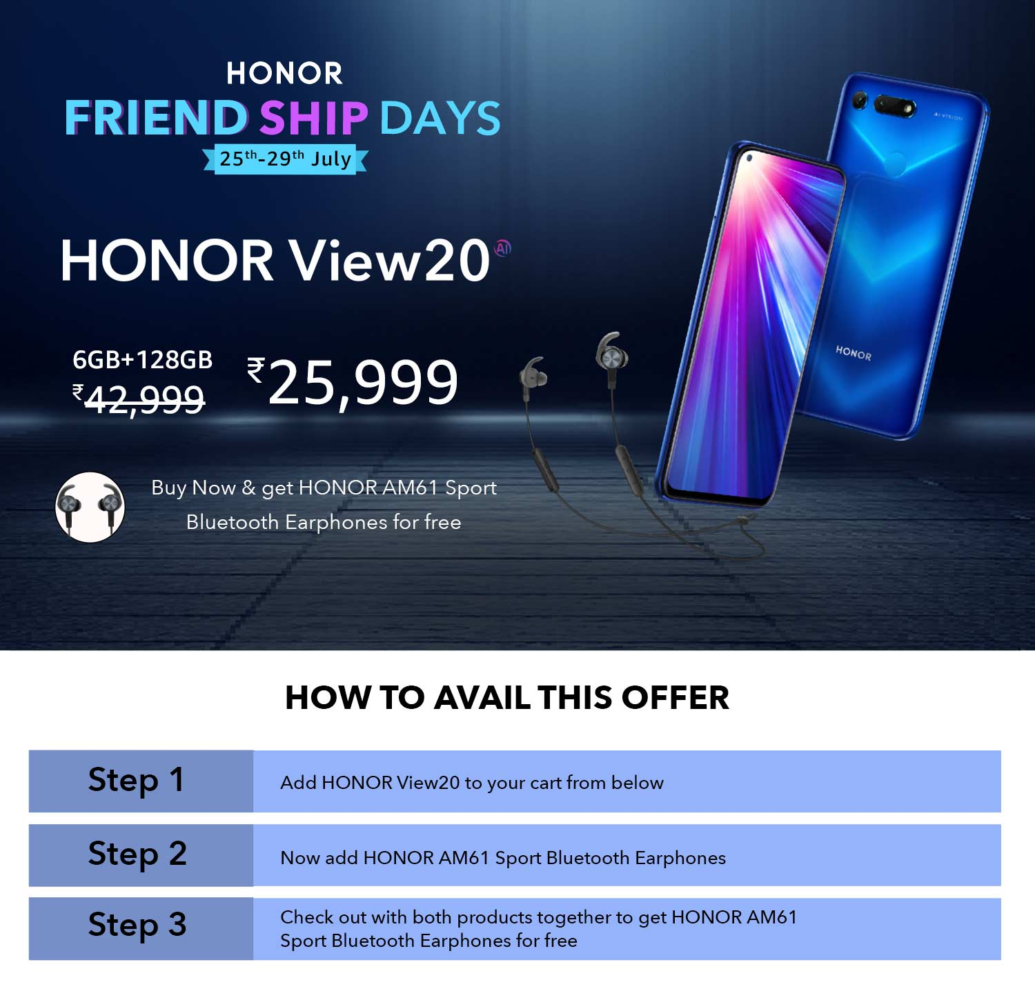 227383177d5e25 HONOR Friendship Days - Sports Bluetooth Earphones for free