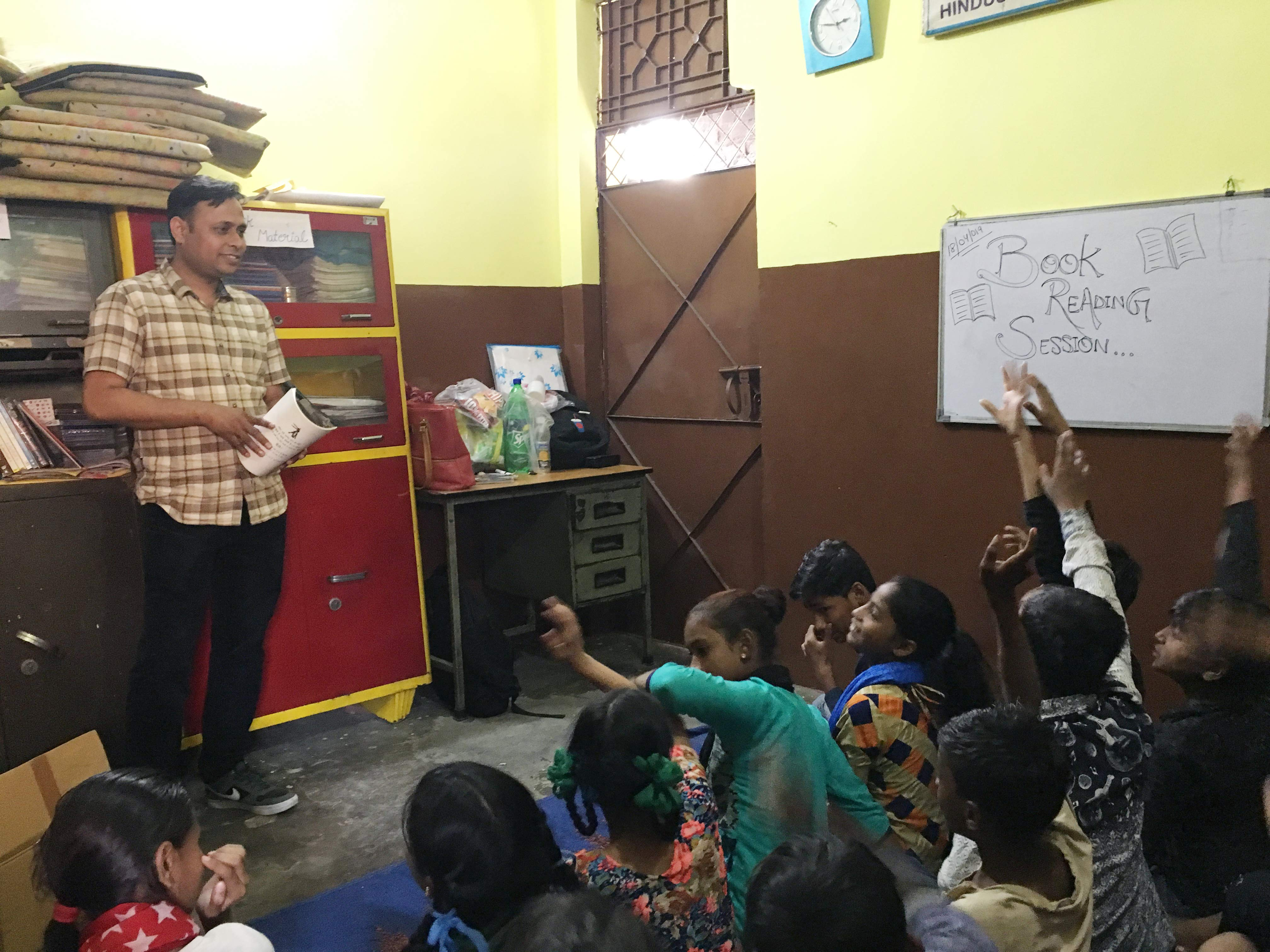 Group reading sessions for young children