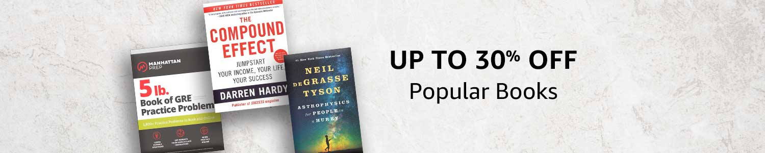 Up to 30% off: Popular Books