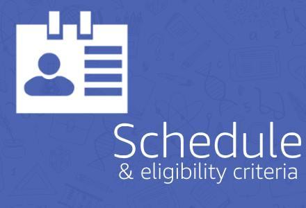 Schedule & eligibility criteria