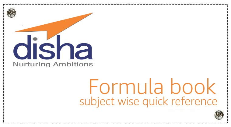 Formula book by Disha