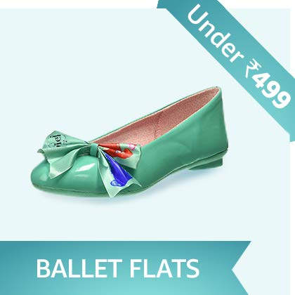 Girls' Ballet Flats Under Rs. 499