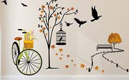 Wall stickers & clocks