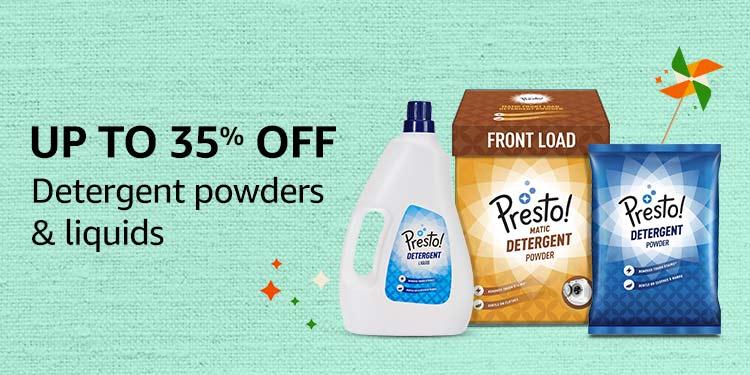 Detergent powders & liquids